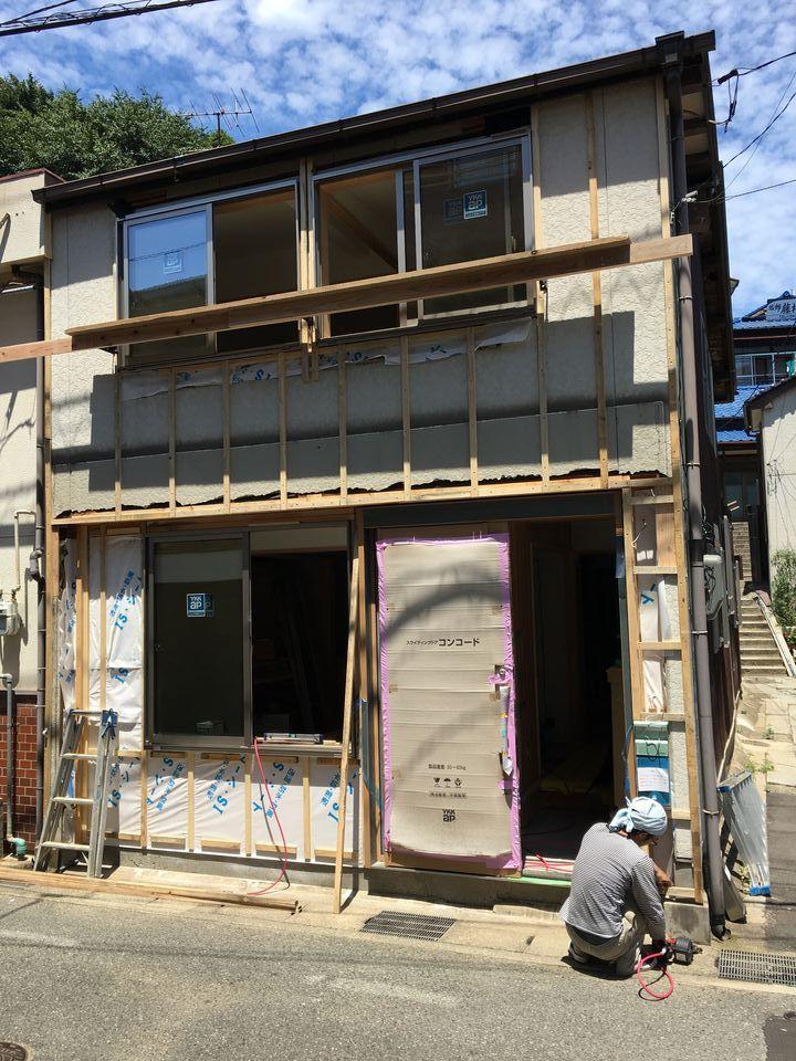 下関市今浦町の家⑫ 外壁工事